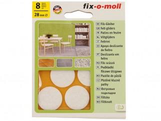 Самозалепващи плъзгачи за крака на мебели Fix-o-moll - 28 мм, 8 бр., Бели