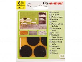 Self-adhesive Felt-gliders Fix-o-moll - 28 mm, 8 pc., Brown