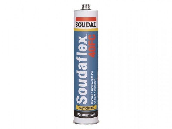 Полиуретаново лепило-уплътнител К+Д Soudal Soudaflex 40 FC - Кафяв
