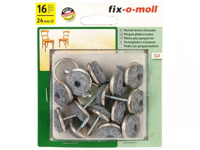 Вълнени плъзгачи с винт за крака на мебели Fix-o-moll - 16 броя