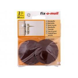 Самозалепващ стопер за врата Fix-o-moll - ф60 мм, Кафяв