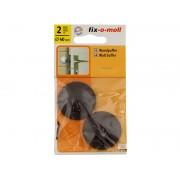 Самозалепващ стопер за врата Fix-o-moll - ф40 мм, Кафяв