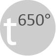 Работна температура до 650 °C
